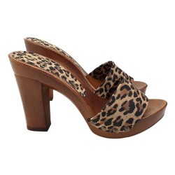 FETISH CLOGS WITH ANIMALIER...