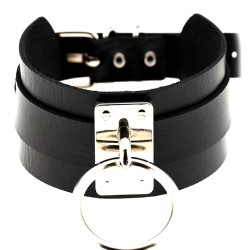 BDSM Collar with leash -...