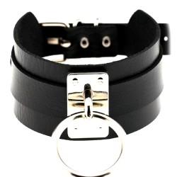 BDSM Halsband mit Leine -...